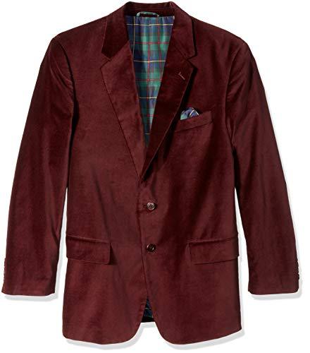 U.S. Polo Assn. Men's Portly Velvet Sport Coat, Burgundy, 42 Short