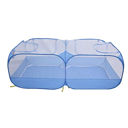 Small animal playpen, portable, breathable, transparent pet tent outdoor, courtyard fence, small animals cage tent, 2 in 1 pet fence tent, for kittens, puppies, guinea pigs, hamsters, rabbit ferret.