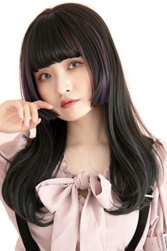 [ブライトララ] ウィッグ ロング インナーカラー 姫カット フルウィッグ 自然 姫髪 グラデーション hf1127-TR/J