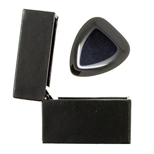 Lava Tones–Schwarz Obsidian–Einzelne Plektrum in einer Geschenk-Box