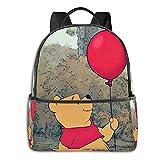 Winnie Cartoon Pooh - Mochila escolar con diseño de anime