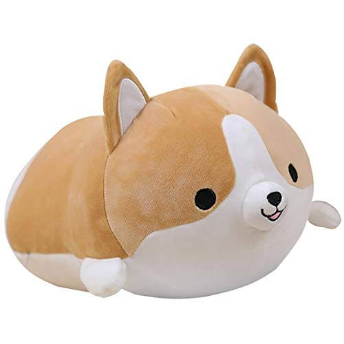 Corgi Dog Plush Pillow, Cute Shiba Inu Corgi Butt Stuffed Animal Toys Gifts for Bed, Valentine, Kids Birthday, Christmas (Brown, 17.3inch)