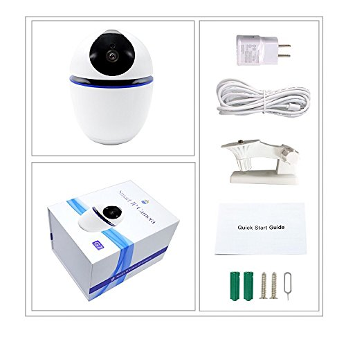 Home Best 360 Degree IP Mini Camera, Wireless, WiFi-Operated Motion Sensor CCTV Home Indoor Security, Battery Supported and Rotates 360 Degrees