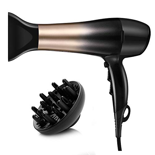 KIPOZI 1875W Hair Dryer, Nano Ionic Blow Dryer Professional Salon Hair Blow Dryer Lightweight Fast...