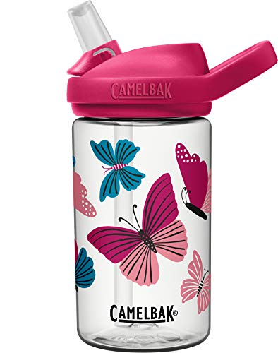 CAMELBAK Unisex– Babys Eddy+ Wasserflasche, Colorblock Butterflies, One Size
