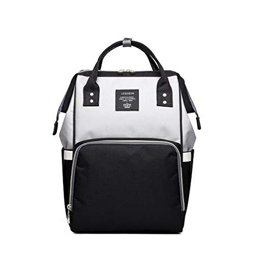 LAIMALA Mummy Maternity Nappy Bag Large Capacity Baby Bag Travel Backpack Designer Nursing Bag for Baby Care Black Grey