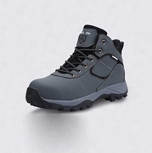 ZYFXZ Zapatos de Seguridad Zapatos de Seguridad Antihumedad de Cabeza de Acero para Hombres, Botas de Carne Antideslizantes Antideslizantes Botas de Trabajo (Color : B, Tamaño : 46)