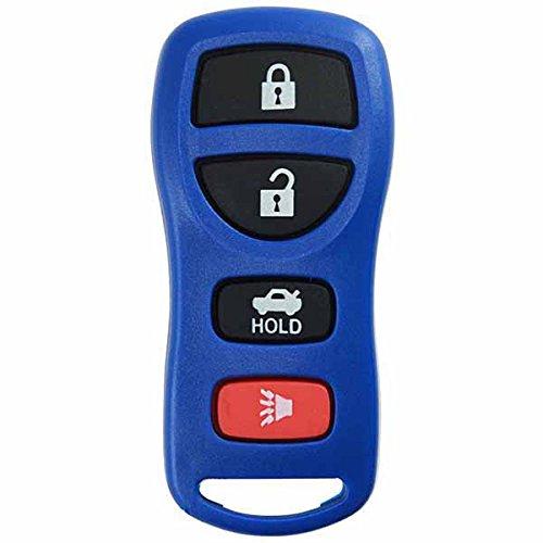 KeylessOption Keyless Entry Remote Control Car Key Fob Replacement for KBRASTU15-Blue