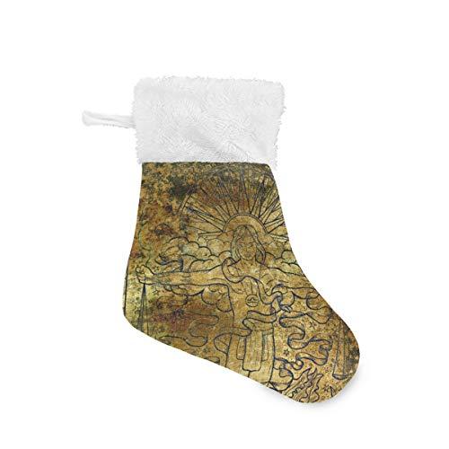 Vipsa Constellation Libra - Medias de Navidad (4 Unidades, 20 cm, para Colgar), Multicolor, 4 Unidades