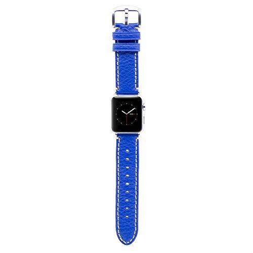 Apple Watch Banda, HOCO lujo Series piel auténtica correa muñeca banda reemplazo iWatch banda con clásica adaptador hebilla para Apple reloj