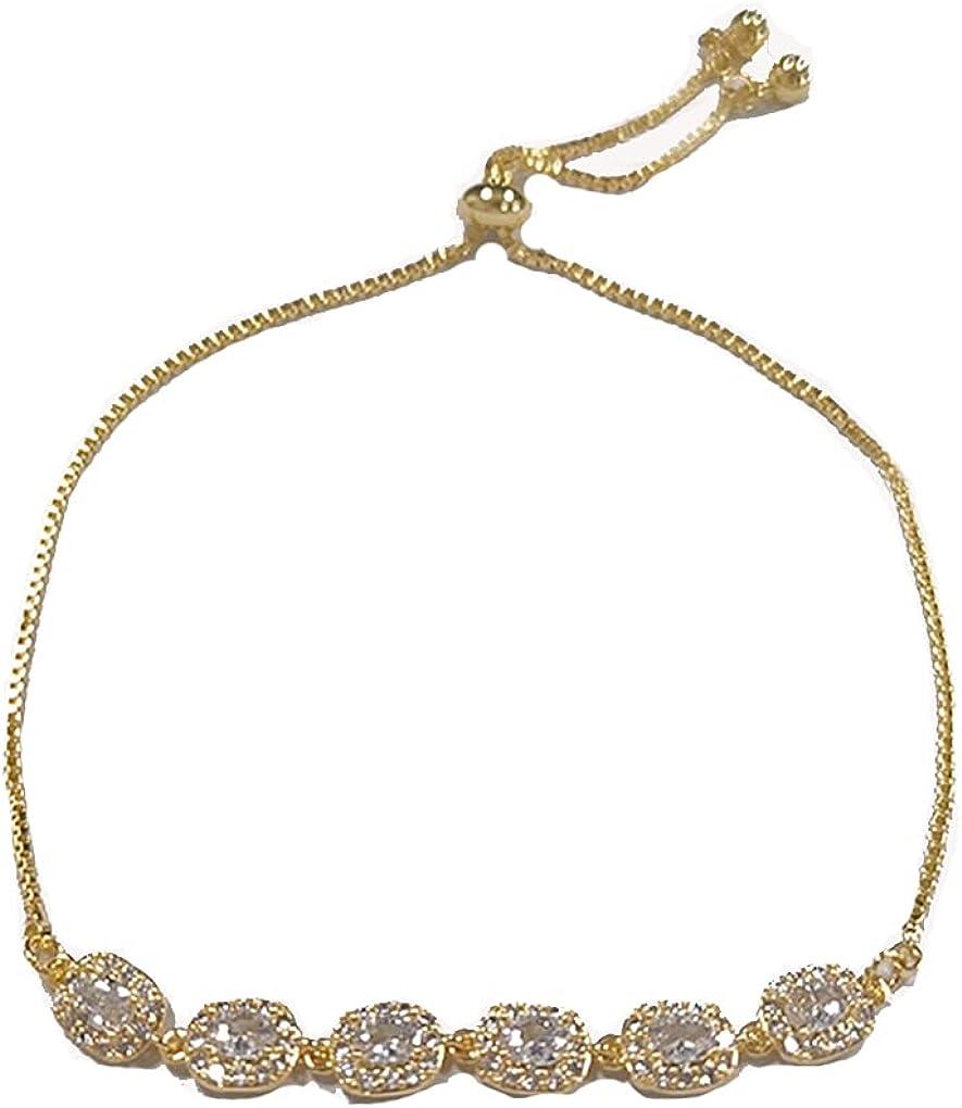 AZOAYAINL Bracelet JewelryNew micro-inlaid zircon pull-out bracelet female Korean fashion personality all-match adjustable bracelet jewelry