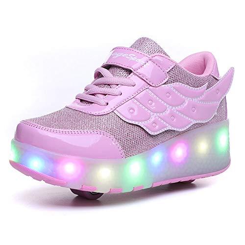 Luz LED rodillo zapatos patines con ruedas de monopatín