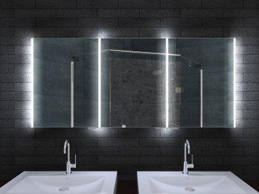 rmi-ByPack Armadietto a specchio in alluminio con corpo illuminazione a LED