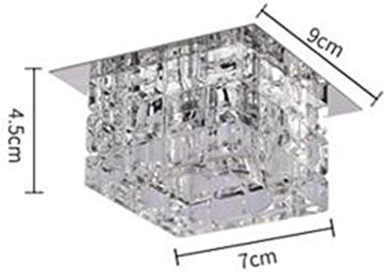 XDD Led5W Deckenleuchte, Schlafzimmer Wohnzimmer   Esszimmer Warm Light Crystal Lamp