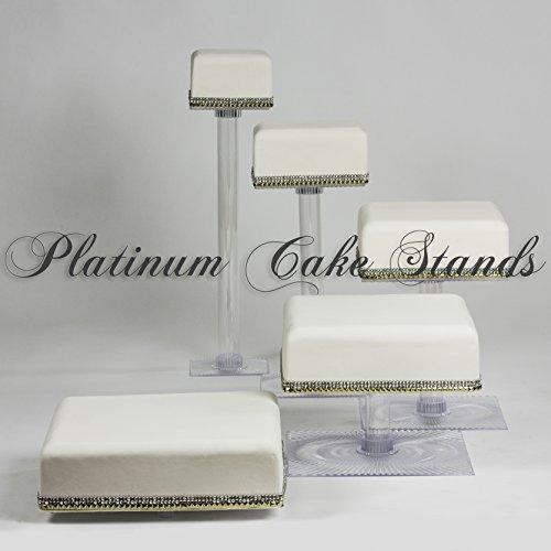 SQ525 Etagere für Hochzeitstorten und Cupcakes, 5 Etagen, quadratisch