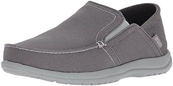 Crocs Men s Santa Cruz Convertible Slip On Loafer Casual Shoes Light Grey/Slate Grey 8 M US