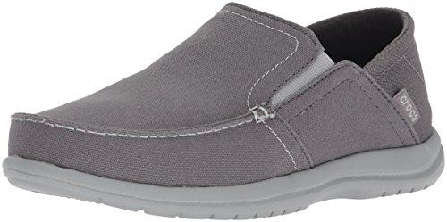 Crocs Men's Santa Cruz Convertible Slip On Loafer Casual Shoes, Light Grey/Slate Grey, 12 M US