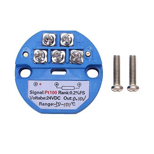 RETYLY RTD PT100 Temperatur Messumformer DC24V Minus 50~100 Grad Ausgang 0-10V
