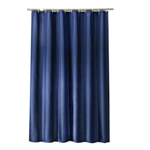 Rfvtgb Duschvorhang aus dickem Polyestergewebe, wasserdicht, 180 x 200 cm, Dunkelblau
