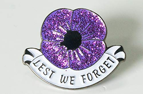 DingCollection 2019 Remembrance Purple Poppy Enamel Pin Badge Brooch Animals