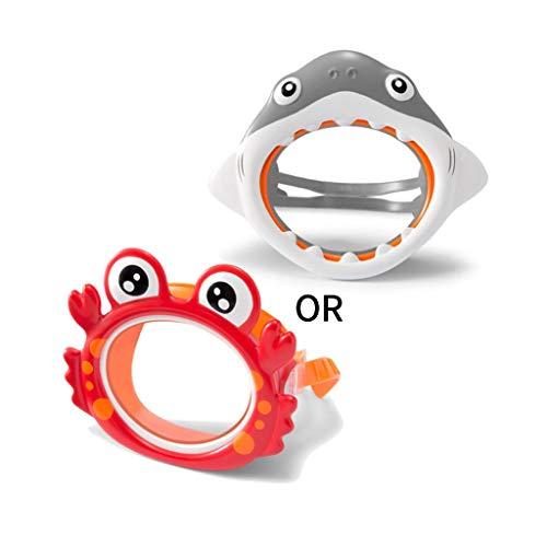 VIVIANU Máscara De Gafas De Buceo De Tiburón Cangrejo De Dibujos Animados, Niños Seguros Que Se Bañan En El Agua De La Piscina Que Lo Entretienen