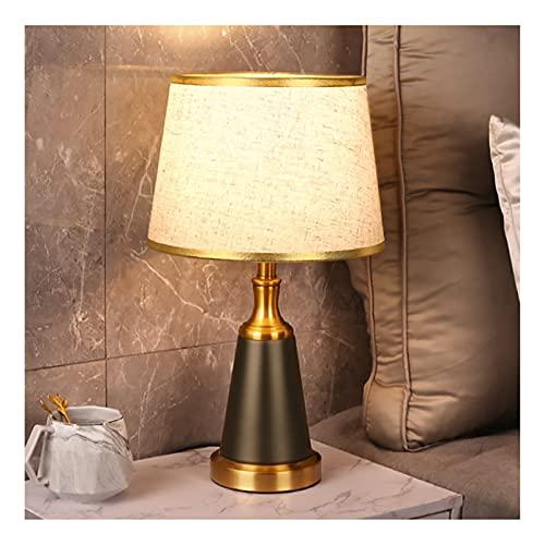 Lámparas de mesa y mesilla de noche Lámpara de mesa de techo de tela, Lámpara moderna de la lámpara de mesa Lámpara de dormitorio moderno para la luz de cabecera suave de acero inoxidable Lámparas de