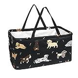 Cajas rectangulares grandes para almacenamiento de huesos de perros, organizando cestas para estantes, juguetes de guardería