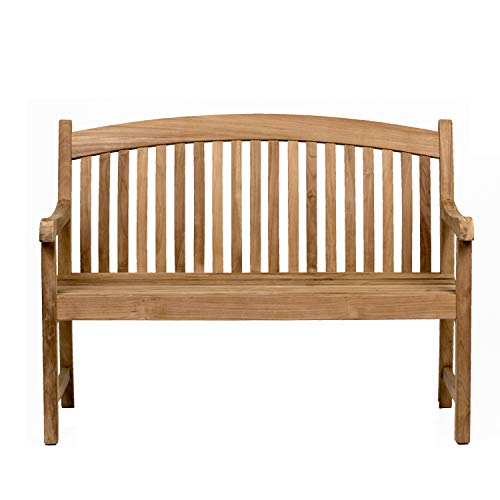 Amazonia Newcastle Patio Bench | Made of Real Teak | Ideal for Outdoors and Indoors, 48Lx26Wx35H, Light Brown