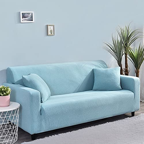 WXQY All-Inclusive-Stretch-Sofa-Schutzhülle rutschfeste L-förmige Ecksofa-Schutzhülle Haustier-Schutzsofabezug A9 3-Sitzer