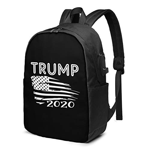Pro Trump God Family Guns Trump 2020 Elections Laptop Backpack with USB Charging Port, Business Bag, Bookbag | Fits Most 17 Inch Laptops and Tablets