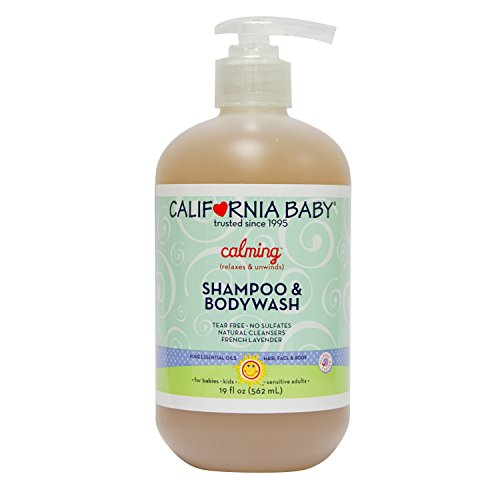 California Baby Calming Shampoo and Body Wash - Hair, Face, and Body | Gentle, Fragrance Free, Allergy Tested | Dry, Sensitive Skin |19 oz. | 2 Pack