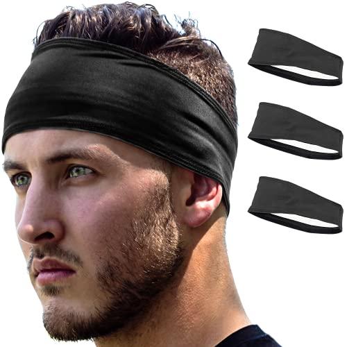 Stirnband Damen und Herren | Haarband Sport Schweißband mit Anti-Rutsch-Streifen | Sport Stirnband für alle Kopfgrößen