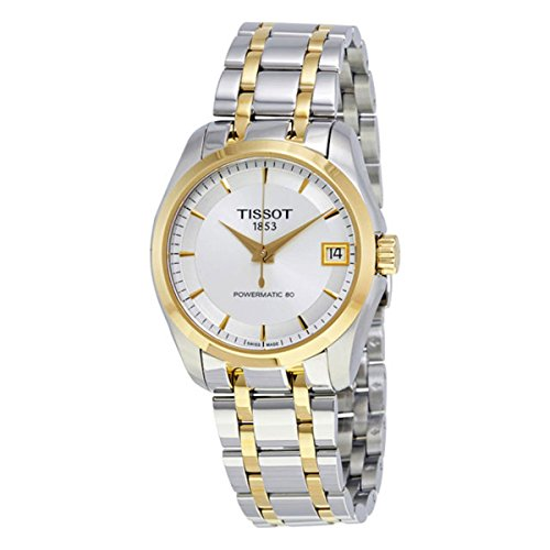 Tissot Damen-Uhren Analog Automatik, Gangreserve ca. 80 Std. One Size Bicolor 32003311