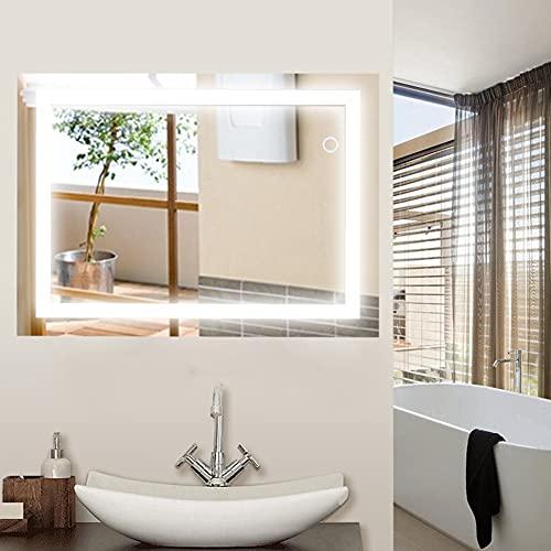 JEOBEST Miroir de Salle de Bains, Armoire Miroir Murale de Salle de Bain avec éclairage LED, Commande par Effleurement, 60x80 cm