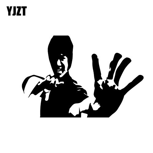 A/X 15.2CM * 10.3CM Bruce Lee Kung Fu Karate Kampf Kampfkunst Bild Autoaufkleber Vinyl Aufkleber Schwarz/Silber C3-0044 Schwarz