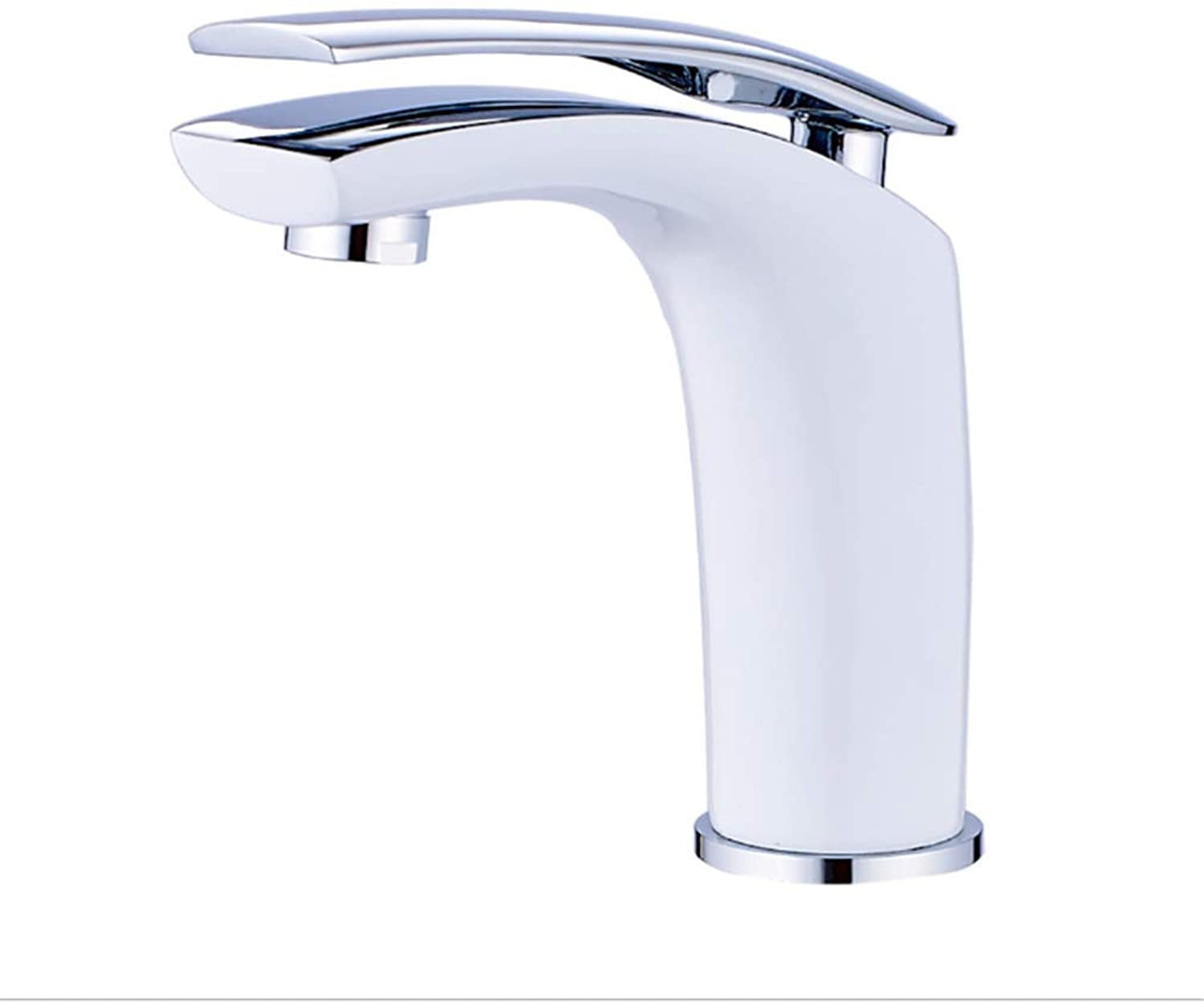 Kitchen Taps Faucet Modern Kitchen Sink Taps Stainless Steelbathroom Basin Single-Hole Sitting Cold and Hot Faucet