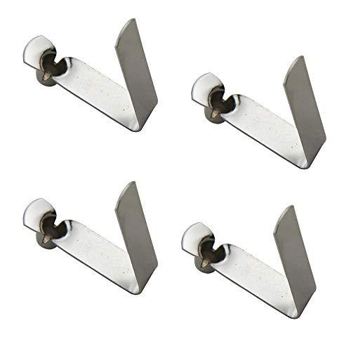 50 piezas Clip de resorte de un solo botón 3 mm / 4 mm / 5 mm / 6 mm / 7 mm / 8 mm / 9 mm Para Kayak Paddle Snap Clip de resorte Tienda de campaña Clips de poste Tubo de toldo Tubo telescópico
