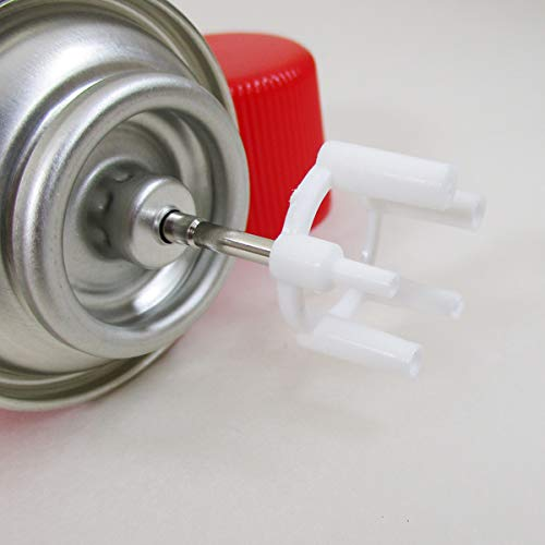 [ライテック]ガスボンベジャンボモダン日本製ガスライター用ボンベ各種アダプター付き130g×3本セット