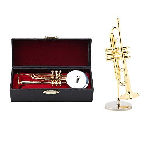 Hztyyier Miniatur DEKO Instrument Mini Kleine Trompete Replica Musical Modell mit Geschenkbox für Weihnachten Geburtstagsgeschenke