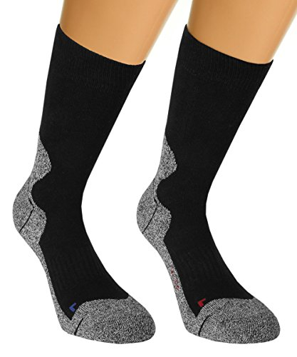 Vitasox 42965 Damen & Herren Outdoor Socken Funktionssocken Trekkingsocken Wandersocken Sportsocken Schwarz 4er Set 43/46
