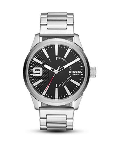 Diesel Herren Analog Quarz Uhr mit Edelstahl Armband DZ1889