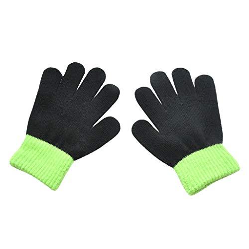 URSING Kinder Handschuhe Stretch Vollfinger Handschuhe Niedliche Volle FingerhandschuheWinter Warm Gestrickte Unisex Kinderhandschuhe für Jungen und Mädchen, 2-7 Jahre alt