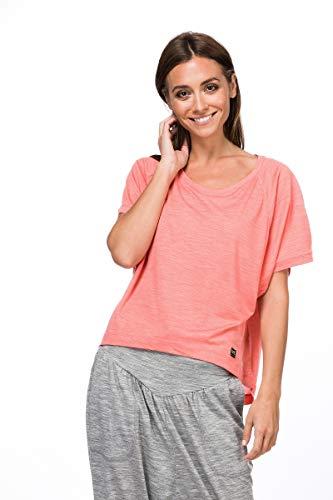 Super.Natural T-Shirt Large pour Femme avec Laine mérinos W Motion Peyto Tee M Georgia Peach Melange.