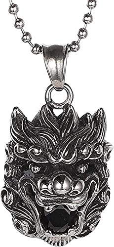 Collar para mujer Collar para hombre Colgante hombres mujeres personalidad clásica encanto de moda collar gótico cristal negro titanio acero colgante collar colgante collar regalo para niñas niños