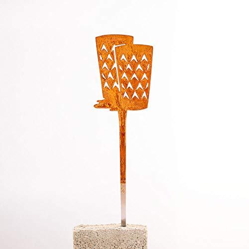 Galionsfigur Gerippte | Designer Blumenstecker Edelrost - 30cm hoch, Hessen, Frankfurt, Gastgeschenk, Mitbringsel, Made in Germany