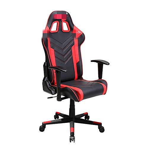 NgMik Gaming Chair Bürostuhl Gemütlich Sedentary Reclining Computer Stuhl Reclining Spiel Stuhl Boss Stuhl Liegestuhl Schreibtischstuhl Ergonomischer Bürostuhl (Color : Red, Size