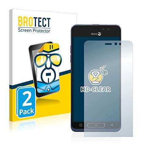 BROTECT Schutzfolie kompatibel mit Doro 8035 (2 Stück) klare Bildschirmschutz-Folie