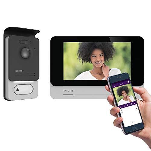 Philips 531036 WelcomEye Connect 2 - Videoportero Conectado al Smartphone, Control de Acceso RFID, función de Mensaje de ausencia visitantes, intercomunicación y monitorización