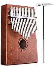 17 Teclas Kalimba NASUM, Piano de Pulgar con 17 Teclas, Dedo Pulgar Piano, con Instrucciones de Estudio y Martillo de Ajuste, para Niños y Adultos