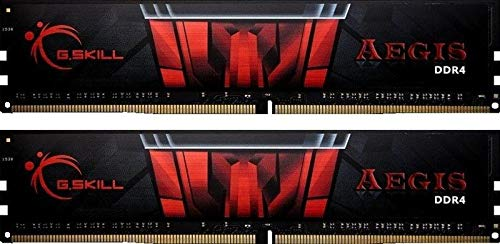 G. Skill 8 GB DDR4 – 2400 8 GB DDR4 2400 MHz Memory Module – Memory Modul (DDR4, PC/Server, 288-PIN DIMM, 2 x 4 GB, Dual, Black, Red)